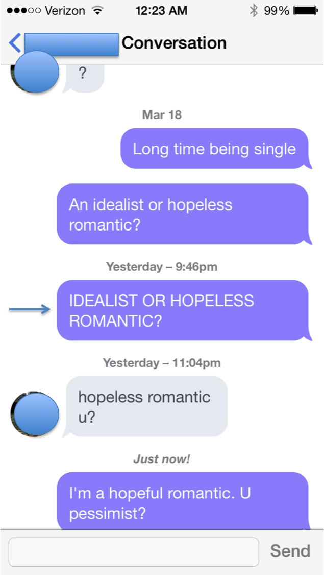 How to respond to online dating chat